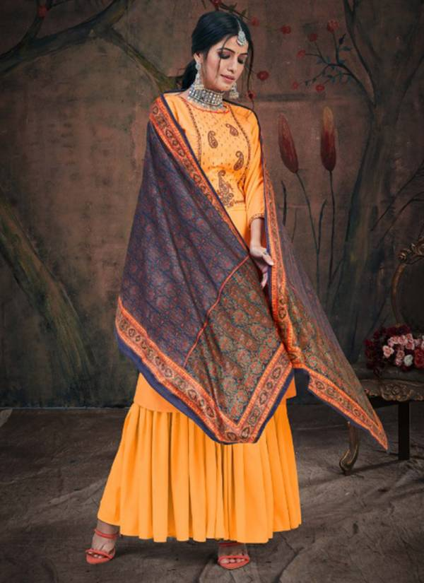 Winter Series 112-001-112-006 Pure Pashmina With Stylish Embroidery Work Winter Season Suits Collection