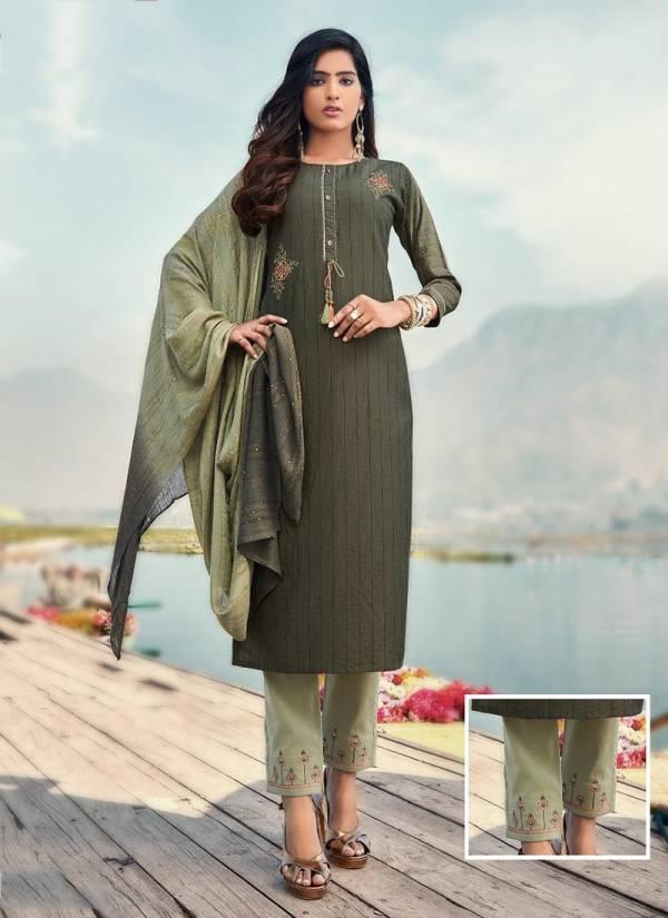 Koodee Saheli 3 Series 2005KS-2010KS New Designer Readymade Chinon Strips With Full Inner Embroidery & Khatli Work Suits Collection