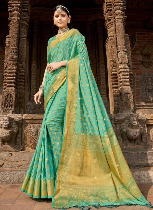 Lifestyle Shobhna Nylon Butti Silk Traditional Wear Sarees Collection