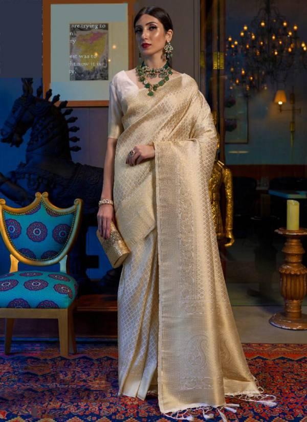 Rajtex Kandini Silk Series 145001-145006 Handloom Weaving Designer Solid Party Wear Sarees Collection