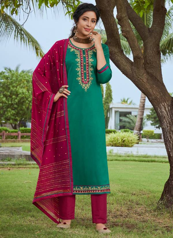 Kessi Almirah Series 11081-11085 Jam Silk Work With Diamond Work Festival Wear Diwali special Suits Collection