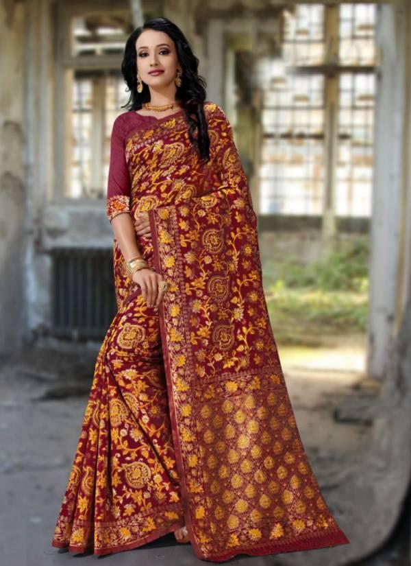 Kodas Spectrum Serie 1166A-1166D Handloom Jacquard Silk Exclusive Designer Festival Wear Sarees Collection