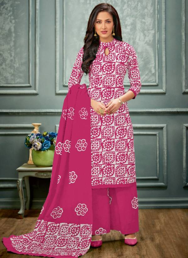 Leela Divya Cambric Cotton Malmal With Hand Printed Work Casual Wear Designer Salwar Suit Collections