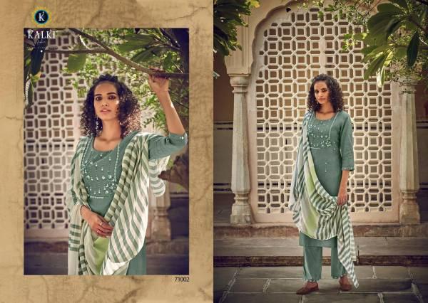 Kalki Fashion Aabidah Pure Viscose Cotton Fancy Embroidery Work Festival Wear Readymade Designer Salwar Suit Collection