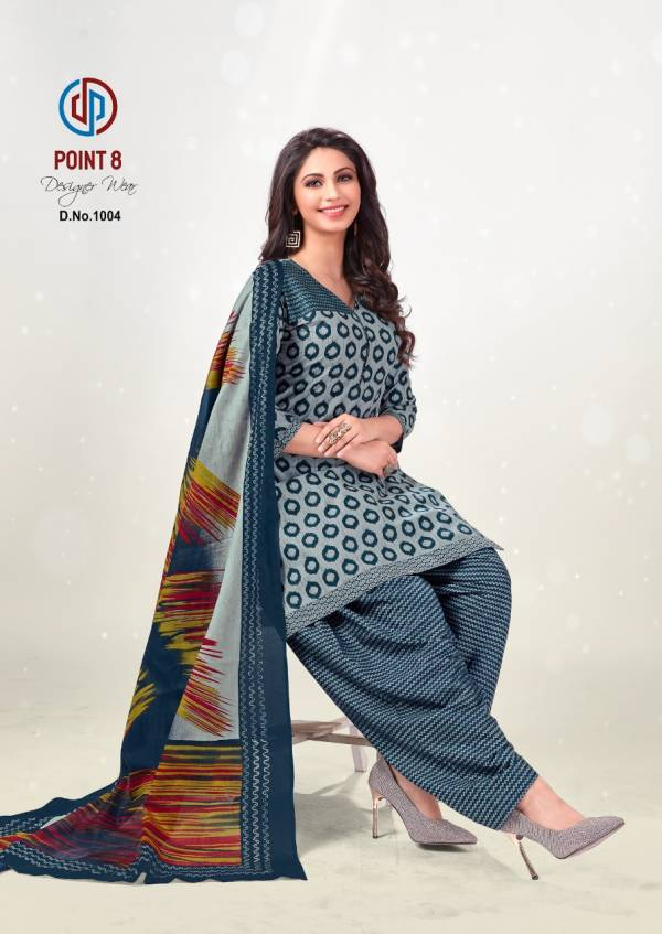 Deeptex Prints Point 8 Pure Cotton Stylish Patiyala Casual Suits Collection