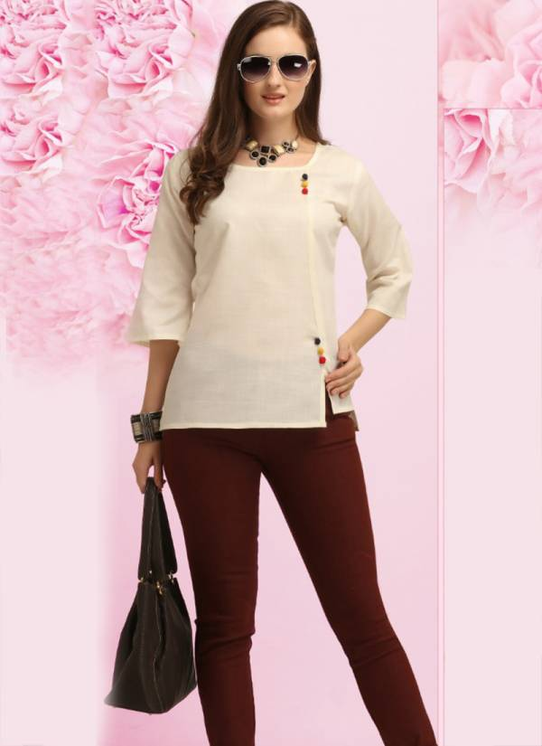 Jelite Carnation Series 601-608 Semi Linen New Trendy Look Daily Wear Tops Collection