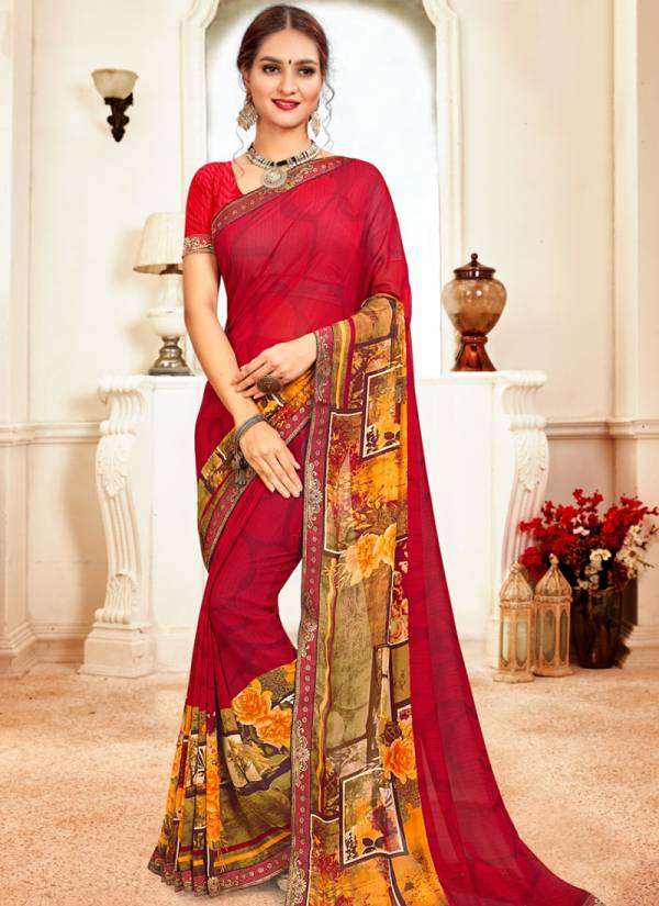 Kodas Passion Series 6364-6375 Weightless Printed With Fancy Border Casual Wear Sarees Collection