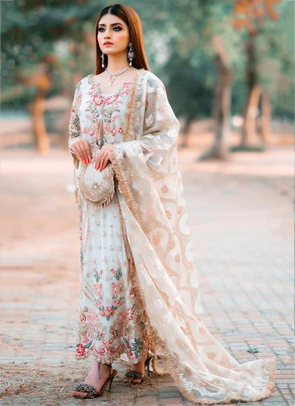 Ramsha Vol 3 Series 273-276 Georgette With Heavy Embroidery Work Eid Special Pakistani Suits Collection