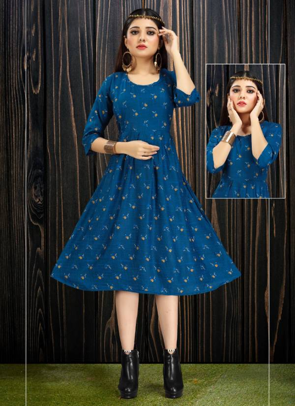 Tunic House Tip Top Series 2001-2008 Rayon Printed Short Trendy Look Kurti Collection