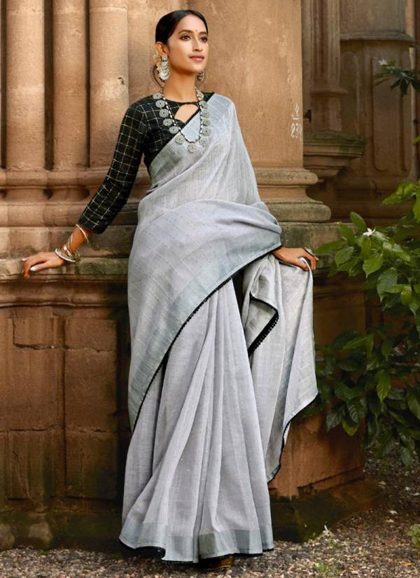 LT Ananta Linen Silk With Sequence Fancy Party Wear Designer Sarees Collection