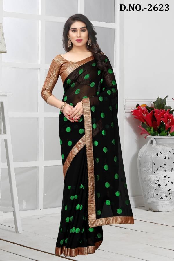 Nari Fashion Zariya Series 2621-2632 Georgette Heavy Resham Embroidery Work With Border Casua Wear Sarees Collection