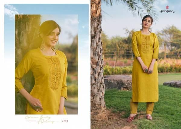 Rangoon Light Line Vol 6 Lining Silk Work Regular Wear Kurtis Collection