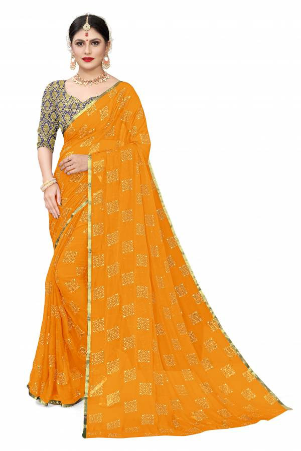 Chirag Series 1-9 Nazneen Chiffon With Duedrop Foil Printed Regular Wear Sarees Collection