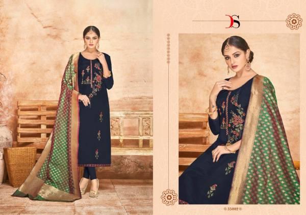 Deepsy Sabiha Banaras Vol 2 Series 35001-35006 Viscose Upada Silk With Embroidery Work Party Wear Churidar Suits Collection