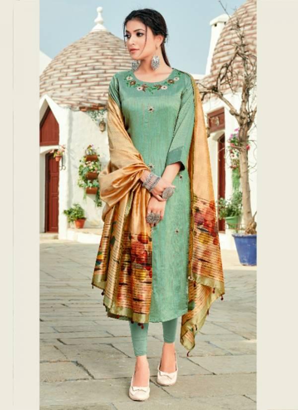 Sweety Fashion Magic Vol 2 Series 2001MAGIC-2005MAGIC Silk Designer Straight Cut Kurtis With Fancy Dupatta Collection