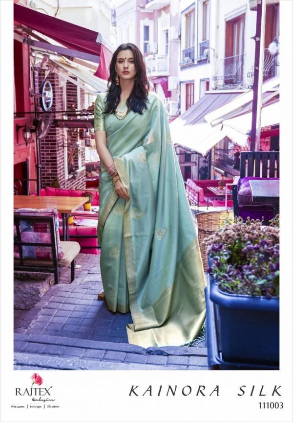 Rajtex Kainora Silk Series 111001-111006 Soft Banarasi Silk Wedding Wear Sarees Collection