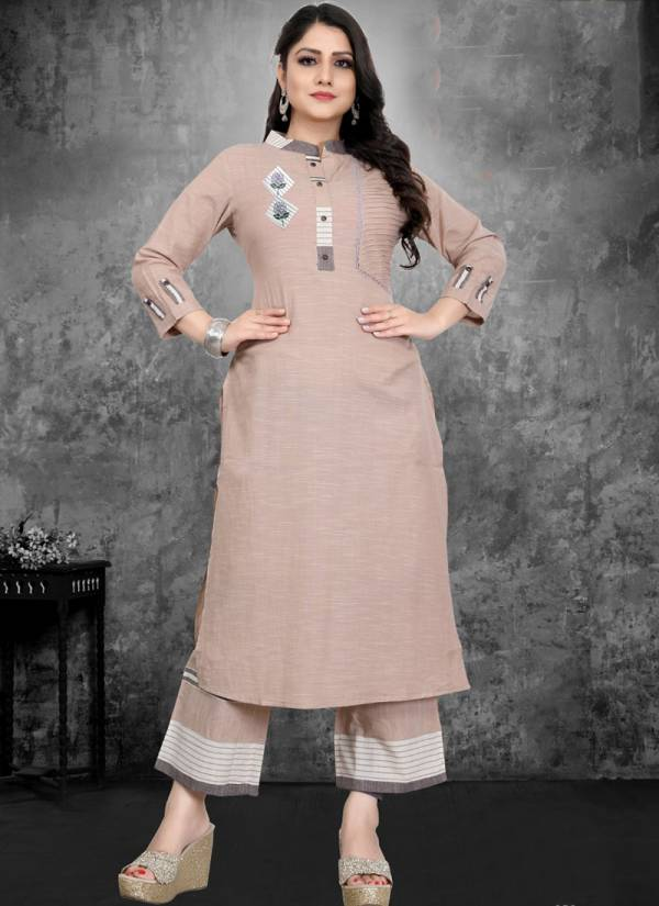 Alishka Fashion Snickers Series 1001-1003 Cotton With Fancy Work Regular Wear Kurtis With Palazzo Collection