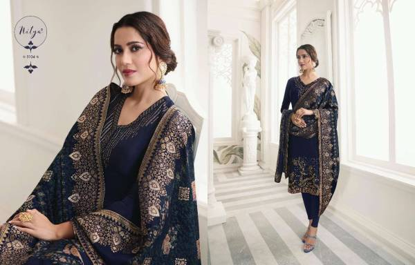 lt Nitya Vol 151 Pure Upada With Embroidery Work Churidar Suits Collection