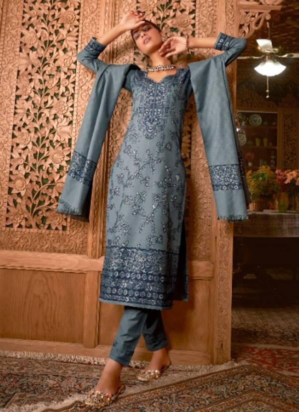 Ibiza Anaya Series 699-706 Pure Handloom Weaving Pashmina Designer With Jacquard Weaving Work Suits Collection