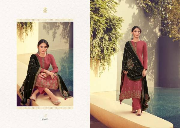 Deepsy Platinum Vol 2 Series 90001-90006  Pure Russian Silk With Heavy Self Embroidery Work Designer Salwar Suits Collection