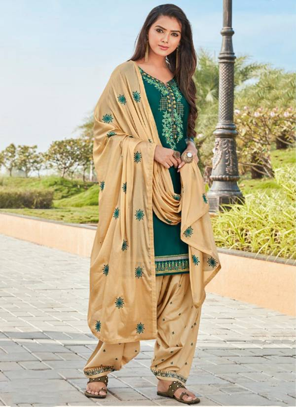 KVS Fashion Of Patiyala Vol 28 Series 12201-12210 Jam Silk With Cotton Inner Trendy Work New Design Readymade Suits Collection