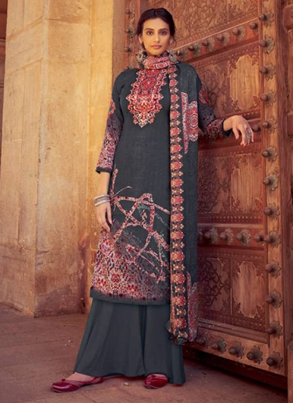winter Series 461-001 - 461-010 Pure Pashmina Digital Style Print Regular Wear Suits Collection