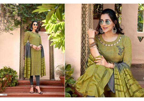 Sweety Fashion Kittu Series 1001-1008 Rayon Wtih Hand Work Long Kurtis With Fancy Dupatta Collection