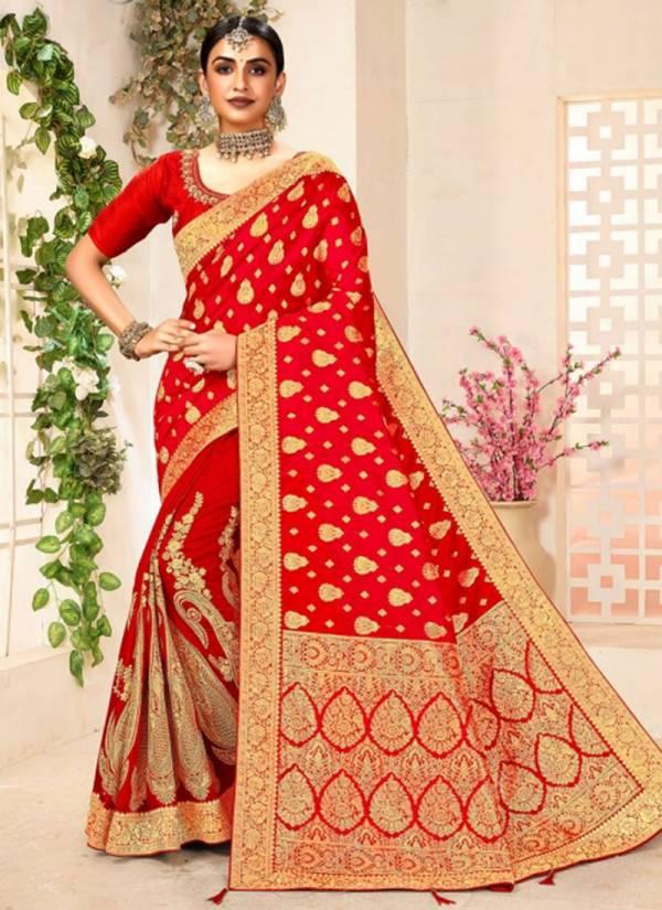 Annika Vichitra Silk With Zari Work Wedding Wear Designer Sarees Collection