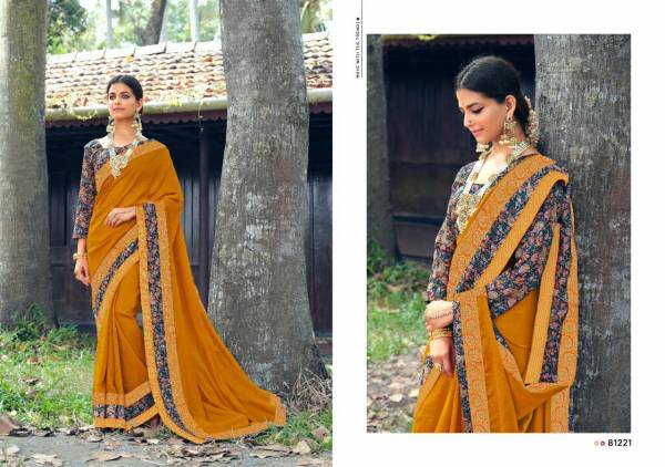 Right Women Designer Jyoti Sangam Vichitra With Banarsi Sarees Collection