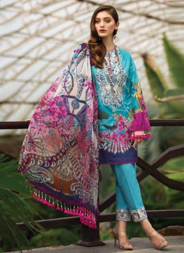 Kilruba Afrozeh Lawn - 20 Luxury Lawn Satin Cotton Fancy Pakistani Suits Collection