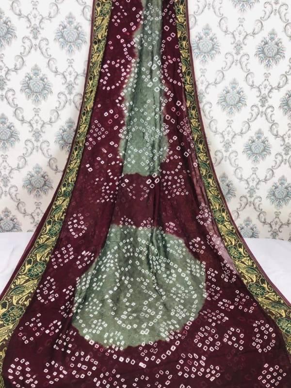 Nakshatra Fashion Studio Bandhani Vol 1 Series 1-5 Art Silk With Jacquard Fancy Border Bandhani Style Latest Casual Wear Sarees Collection