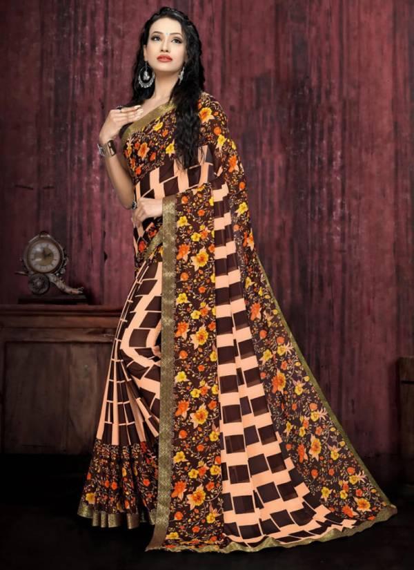 Kodas Bahar Series 2041-2050 Rennial Printed Latest Fantasy Daily Wear Sarees Collection