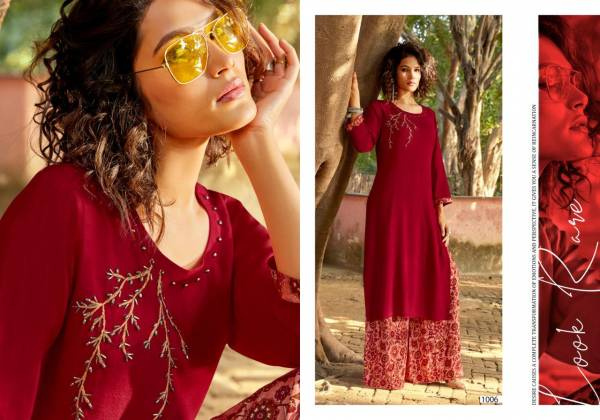 Sweety Fashion jolly Series 1001-1008 Rayon With Designer Hand Work Festival Wear Palazzo Kurti Collection