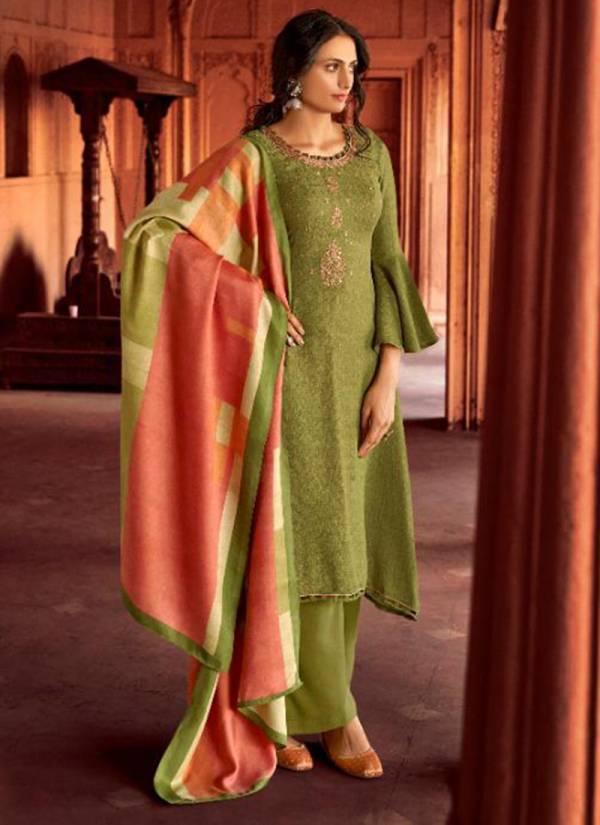 Kalki Fashion Hushna Series C378-C387 Pure Pashmina Digital Printed And Embroidery Work Palazzo Suits Collection