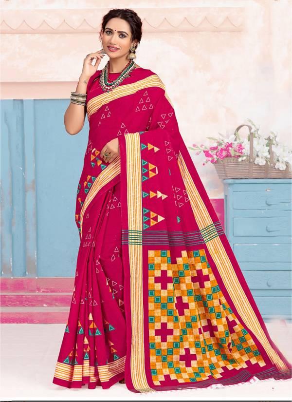 Lakhani Saroj Vol 3 New Designer Pure Cotton With Printed Daily Wear Saree Collection
