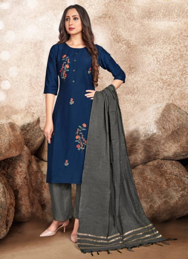Tunic House Nippon NX Fancy Chinon Silk With Embroidery Work Daily Wear Designer Salwar Suits Collection