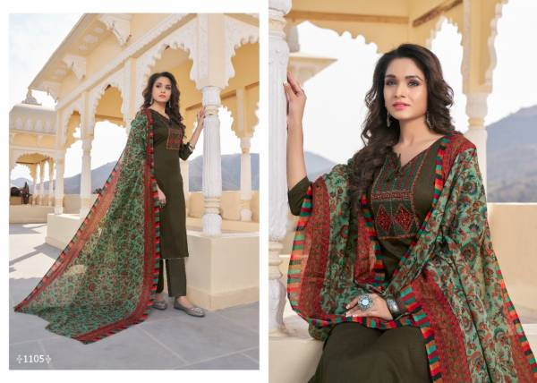 7Clouds Nasha-1 Pure Jaam Print With Kashmiri Embroidery Designer Suit Collection