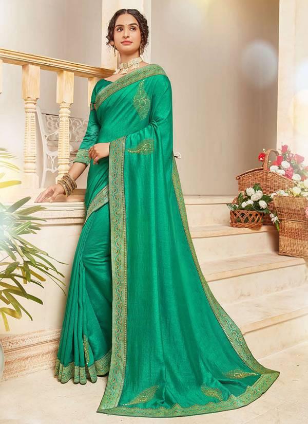 Kalista Fashion Your Choice Series 1001-1006 Party Wear Stunning Look Swarovski Diamond Work Vichitra Silk Sarees Collection