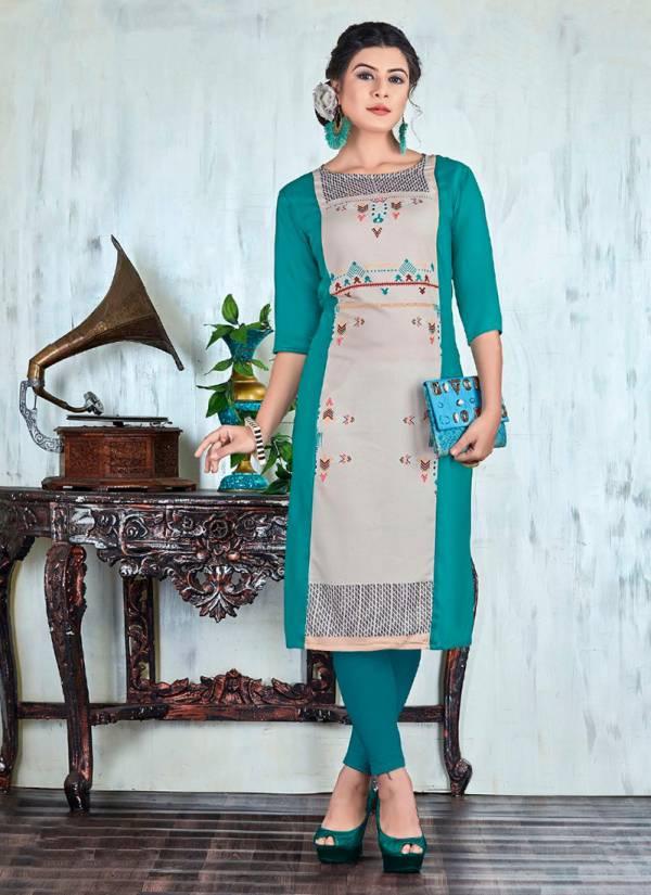 Neha Fashion Hazel Vol 4 Series 201HAZEL-206HAZEL Viscose Rayon Digital Printed Office Wear & Daily Wear Kurtis Collection
