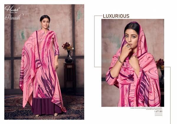 Alok Suit Panash Series 677-001 - 677-010 Latest Designer Pure Wool Pashmina Digital Print New Fancy Suits Collection
