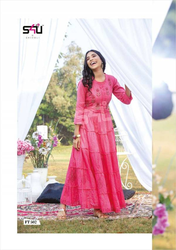 S4U Flairy Tales Vol 5 Cotton Fancy Long Gowns Style Kurti Collection