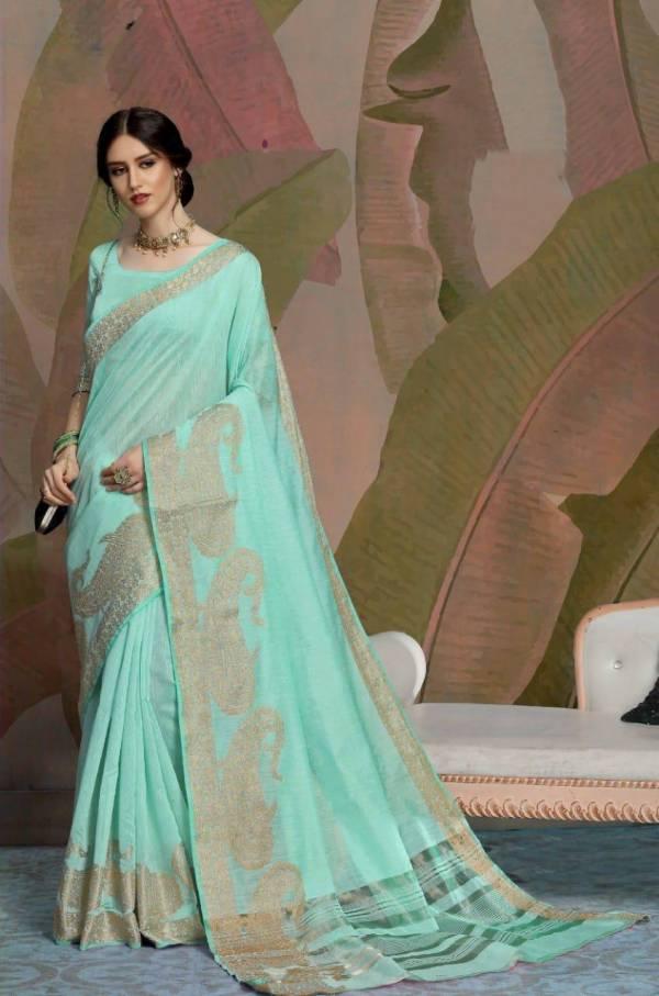 Nakshatra Fashion Studio Non Catalog Vol 4 Series 9015-9023 Linen Weaving Work Traditional Wear Sarees Collection