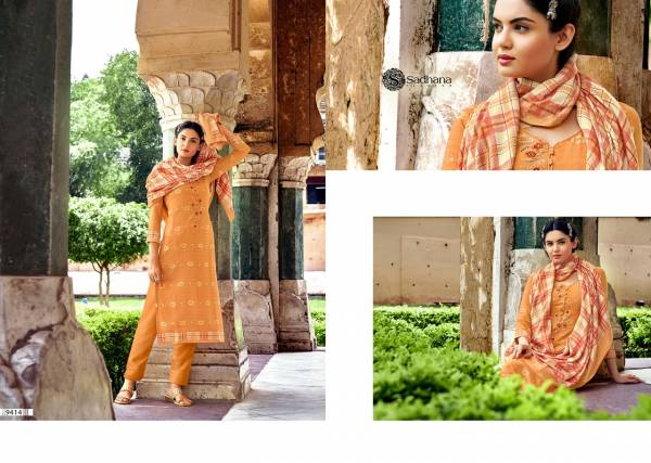 Sadhana Fashion Burberry Vol 33 Series 9408-9417 Pashmina With Fancy Work Casual Wear Winter Suits Collection