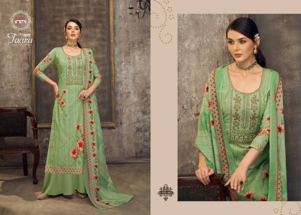 Alok Suit Taara Pure Cotton Digital Printed With Fancy Work Palazzo Suits Collection