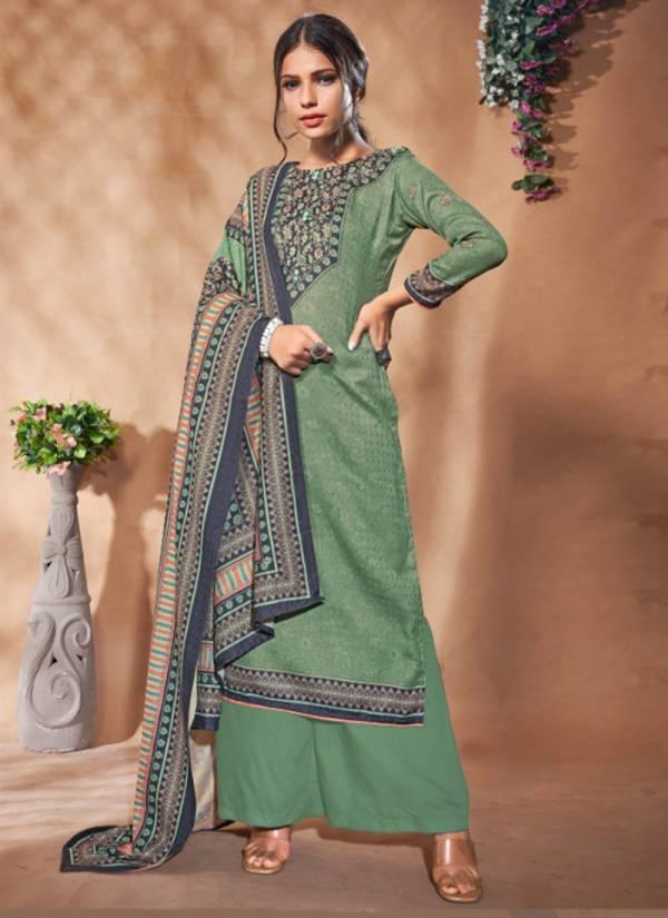 Bipson Sakhiya Series 1037-1040 Woollen Pashmina Digital Print Daily Wear Winter Season Suits Collection