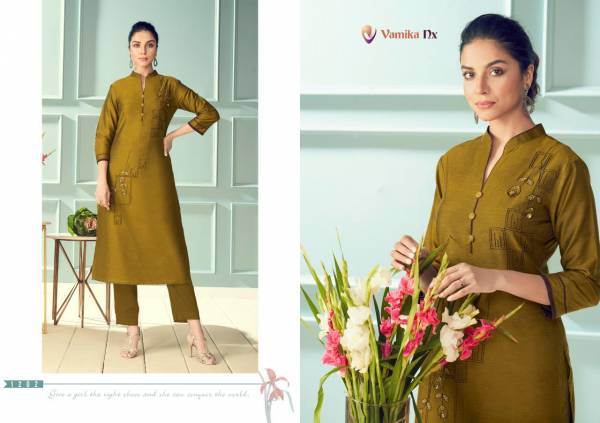 Vamika NX Magic Pure Viscose Two Tone Silk Designer Kurtis Collection