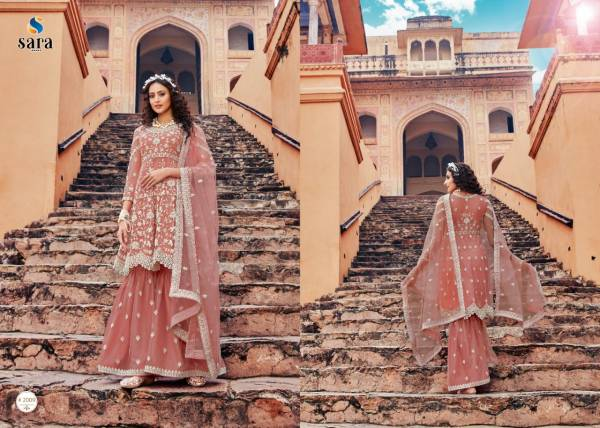 Sara Trendz Heer Butterfly Net With Heavy Embroidery Work Party Wear Suits Collection