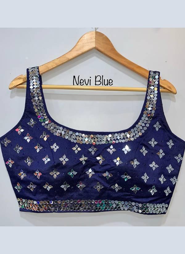Ruhi Fashion 26 Phantom Silk Fashionable with Classic Mirror Work Blouse Collection