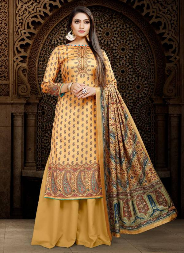 Bipson Queen Series 1162-1165 Tussar Silk Digital Printed New Fancy Casual Wear Palazzo Suits Collection