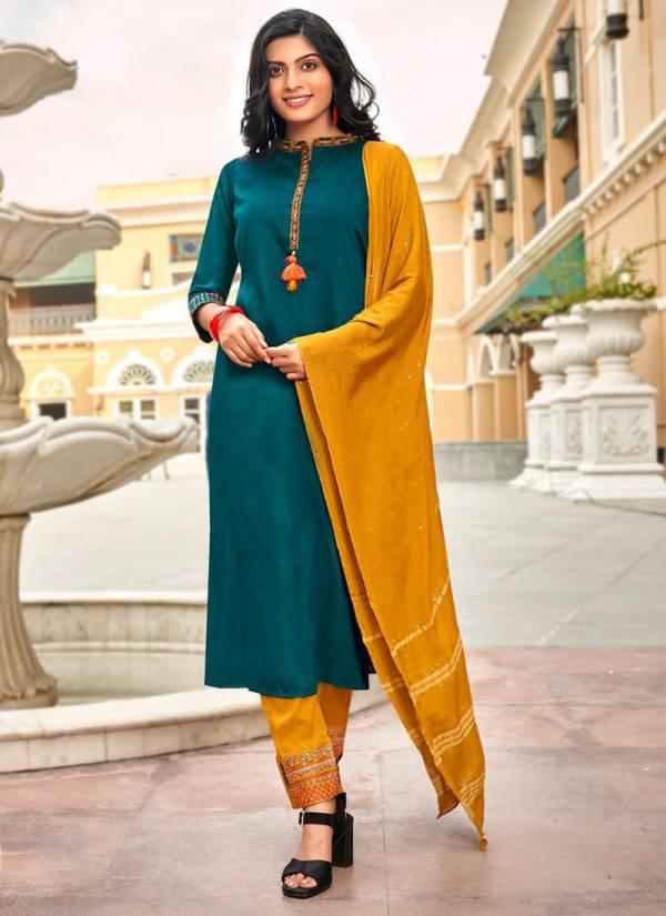 Koodee Fashion Saheli Vol 4 Series 2011SAHELI-2016SAHELI Chinon Slub Latest Designer Readymade Salwar Suits Collection